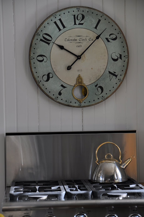 TIME TO COOK, DON'T OVER LOOK GOOD REPRODUCTIONS, LIKE THIS WALL CLOCK ($42)!