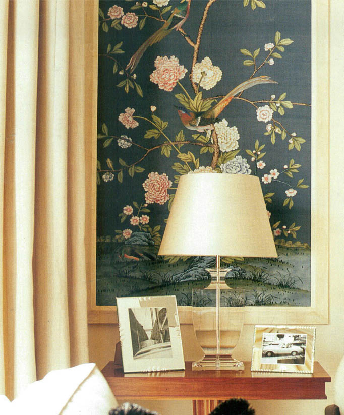 Chinoiserie Chic Framed Chinoiserie Wall Panels In Rooms