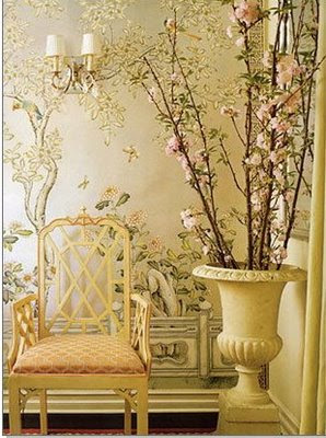 Chinoiserie chic chinoiserie wallpaper series de gournay for Oriental style wallpaper uk