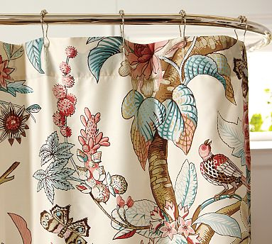 Curtains Ideas chinoiserie curtains : Chinoiserie Chic: Chinoiserie Shower Curtains