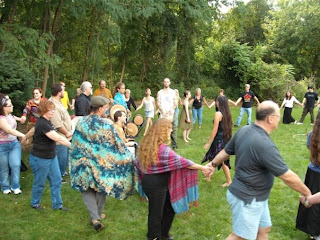 ritual circle at Western Mass. Pagan Pride Day