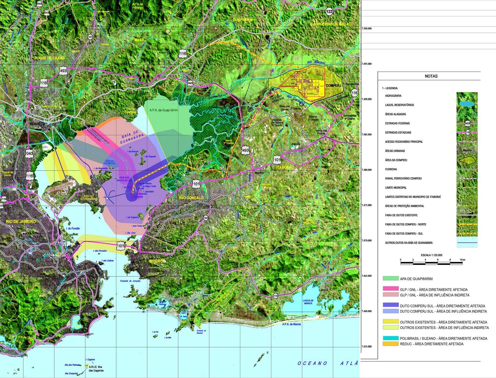Areas Afetadas Baia de Guanabara