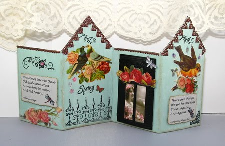 Backside of House fold up card