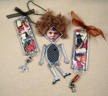 ~ Soldered Halloween & Dolly Ornaments ~
