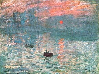 Impresionismo: Impresión: amanecer, tela de Monet