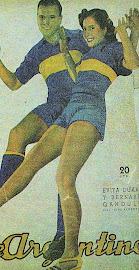 Eva Perón con la de Boca!