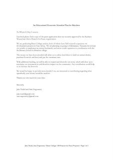 travel grant application cover letter
