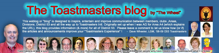 The Toastmasters blog (started by The Wheel)