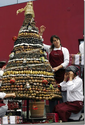 Chilian Potato Christmas Tree