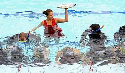 underwater dinner party