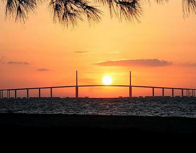 The Sunshine Skyway Bridge, Tampa Bay The Sunshine Skyway Bridge, Tampa Bay