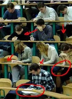 easy way to cheat in exams