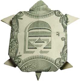 amazing money sculptures of Turtle