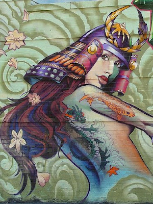 Beautiful Graffiti Art: Woman Warrior