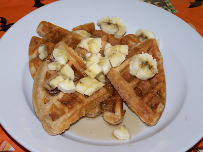 My Sisters' Cucina: Whole Wheat Peanut Butter Waffles