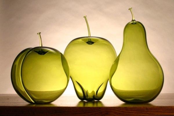 Objetos con vidrio anthony biancaniello - Frutas de cristal ...
