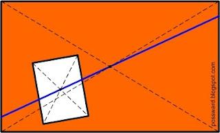 Прямая через проходит через центры прямоугольников