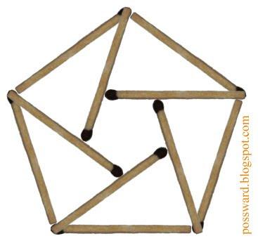 два пятиугольника и пять треугольников