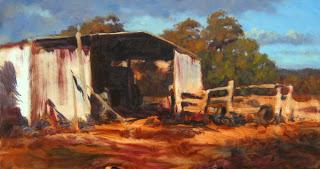 andy dolphin australian landscape oil