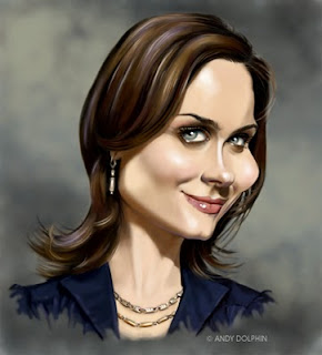 emily deschanel bones caricature
