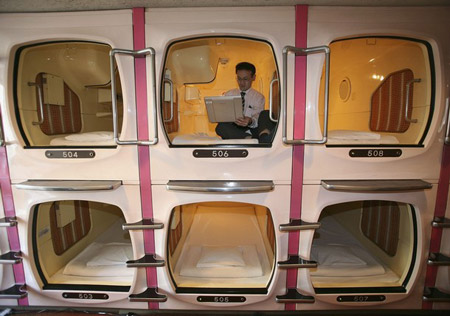 Reality Lenses Jobless Japanese Move To Capsule Hotels