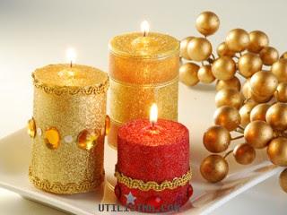 Manualidades y muchas cosas mas se dictan cursos velas - Velas de navidad decoradas ...