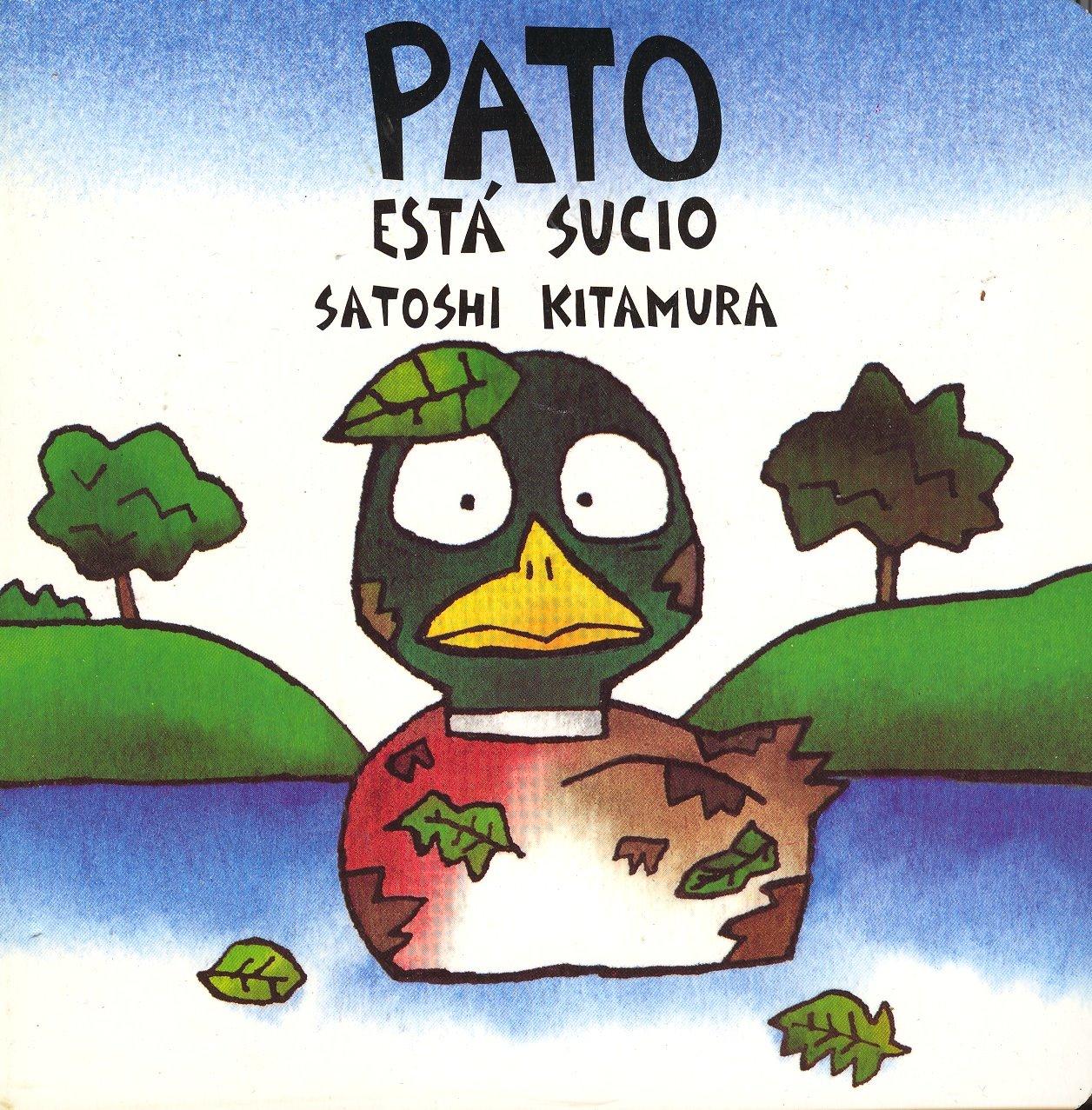 Imagenes De Un Baño Sucio: tiene sueño, Perro tiene sed, Pato está sucio, Ardilla tiene hambre