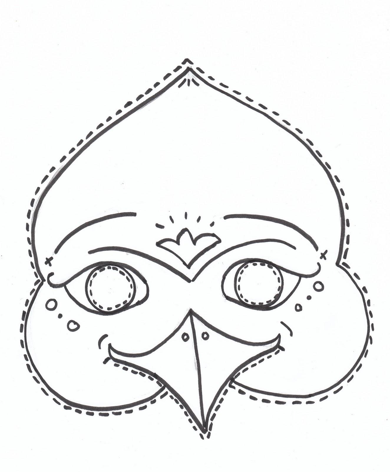 Uncategorized Parrot Mask Template bird mask template photo7