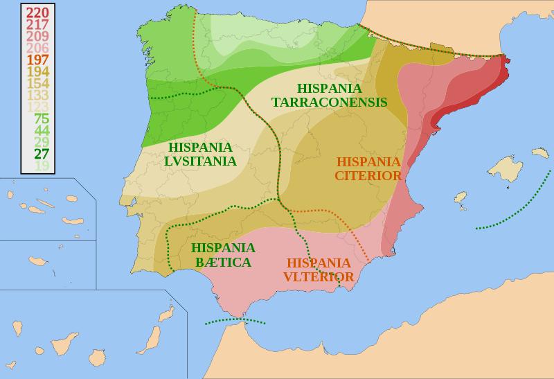 Portuguese Citizenship History Of Portugal Roman Lusitania And - Portugal map history