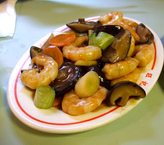 prawns & mushrooms