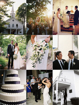 Dana and Ron 39s Purple and White Wedding