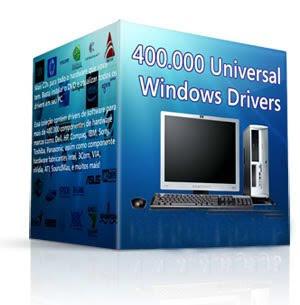 Download 400 Mil Windows Drivers  Essa coleção contém drivers de software para mais de 400.000 componentes de hardware de marcas como Dell, HP, Compaq, IBM, Sony, Toshiba, Panasonic, assim como componente hardware fabricantes Intel, 3Com, VIA, nVidia, ATI, SoundMax, e muitos mais!