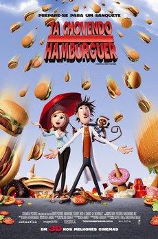 Tá Chovendo Hamburger A história de um cientista que tenta acabar com a fome no mundo e faz chover todo tipo de comida do céu estreou em primeiro lugar na bilheteria norte-americana este fim de semana.