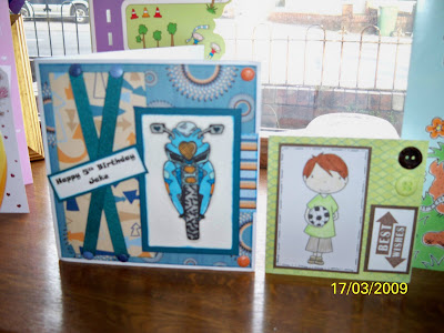and here is his is birthdays cards off my lovely blogging friends they so