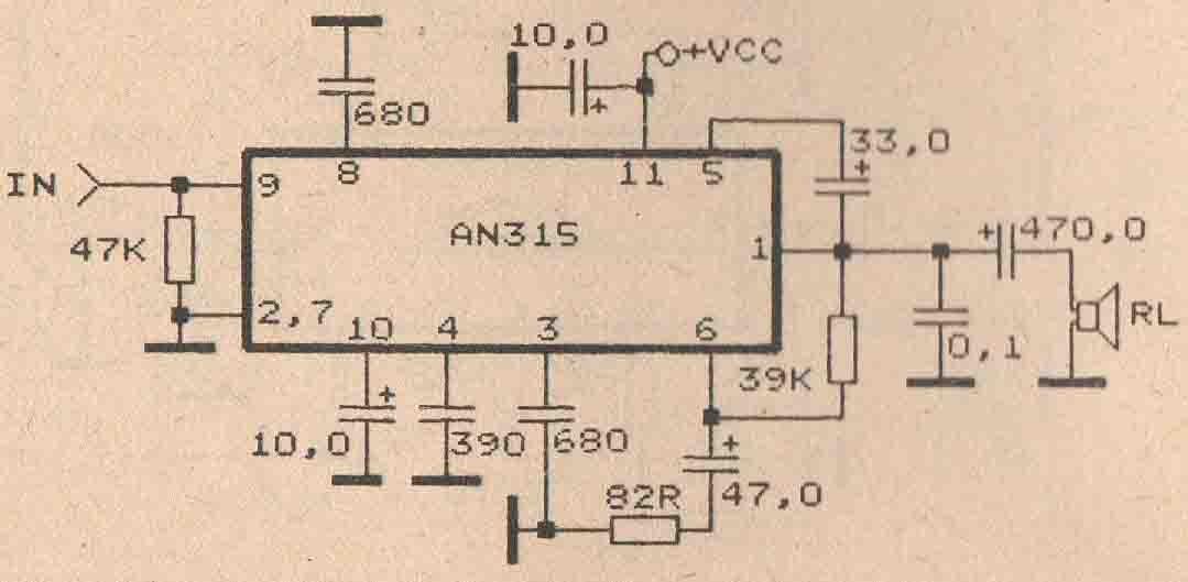 Magnificent Electronic Circuit Diagram Audio Amplifier An7120 2W Electronic Wiring Database Ilarigelartorg