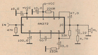 schematic audio amplifier with ic ic an272 subwoofer bass amplifierschematic audio amplifier with ic ic an272