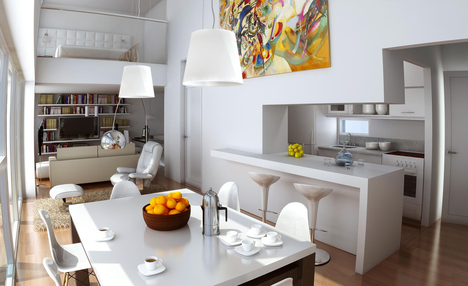Claudio gabriel escobar 3d 2d arquitectura y render for Decoracion de departamentos minimalistas