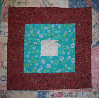 Turquoise Fabric made in to a My Quilt