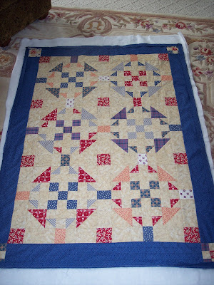Backing a Quilt and Tied with Yarn