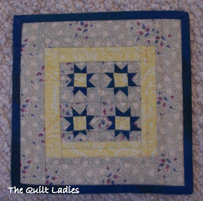 Little Quilt Machine Pieced and Hand Quilted