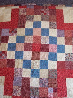 Red, White and Blue Square Star Quilt, The Quilt Ladies Book Collection of Stories