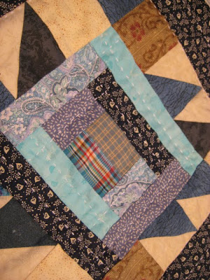 Grand #3's Big Boy Quilt in Blues