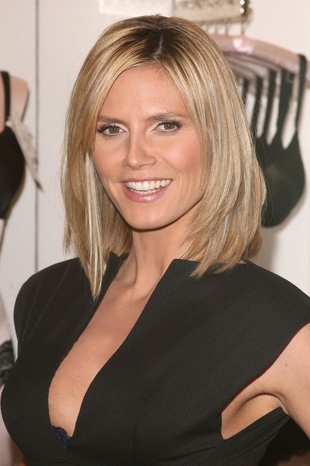 long bob haircuts for 2010. heidi klum l 80237 How to Cut Layers into A Long Bob Hairstyle Heidi Klum