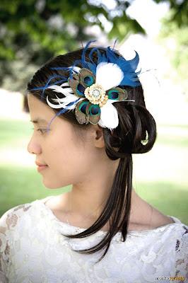 Hairbowswonderworld Peacock Hair Fascinators
