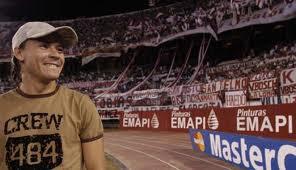 Guillermo Coria en la cancha de River Plate