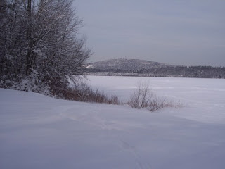 photo of Ponkapoag Pond, Blue Hills, January 2009