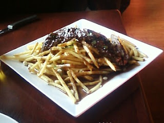 photo of steak frites, Bella Luna, Jamaica Plain