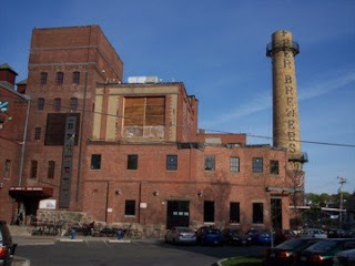 photo of outside of the Brewery Complex, Jamaica Plain
