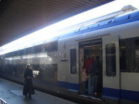 Regional train in Antibes
