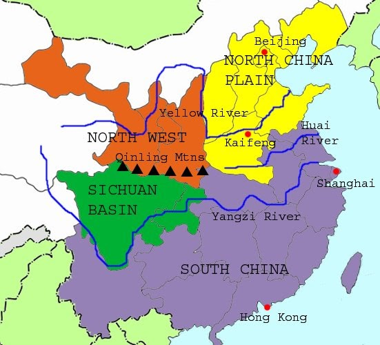 Blank Map Of China With Rivers And Mountains